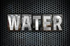 Water Concept Metal Letterpress Type Stock Illustration