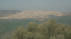 Palestinian city near Nazareth 1 Stock Footage