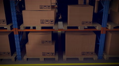 A warehouse is a commercial building for storage of goods. Stock Footage