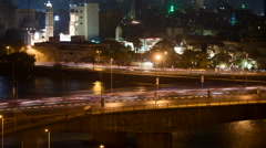 Cairo traffic at night timelapse Stock Footage