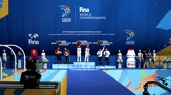 16th FINA World Championships, Aquatics Palace. Stock Footage