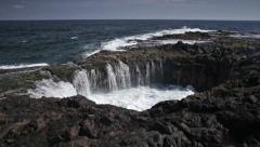 Buscar el Bufadero, Gran Canaria, ocean, waves and pool Stock Footage