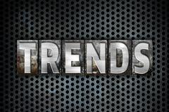 Trends Concept Metal Letterpress Type - stock illustration