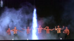 "Performance of the dance theatre ""Temptation"". - stock footage"