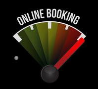 online booking meter sign concept - stock illustration