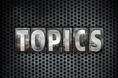 Topics Concept Metal Letterpress Type - stock illustration