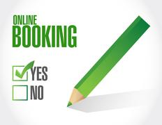 online booking approval sign concept - stock illustration