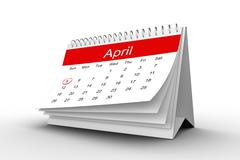 April calendar - stock illustration