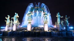 """""""Friendship of Nations"""" fountain. Stock Footage"""