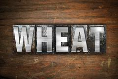Wheat Concept Metal Letterpress Type - stock illustration