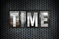 Time Concept Metal Letterpress Type - stock illustration