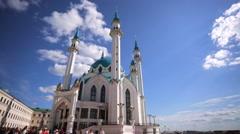 Kul Sharif (Qolsherif, Kol Sharif, Qol Sharif) Mosque in Kazan Kremlin. Stock Footage