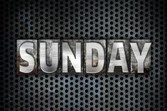 Sunday Concept Metal Letterpress Type Stock Illustration