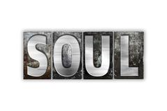 Soul Concept Isolated Metal Letterpress Type Stock Illustration