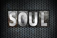 Soul Concept Metal Letterpress Type Stock Illustration