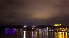 Night view of Kiev. Timelapse 4k Stock Footage
