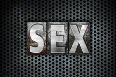 Sex Concept Metal Letterpress Type - stock illustration