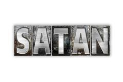 Satan Concept Isolated Metal Letterpress Type - stock illustration
