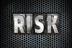 Risk Concept Metal Letterpress Type - stock illustration