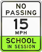 Road sign used in the US state of Arizona - school zone Piirros