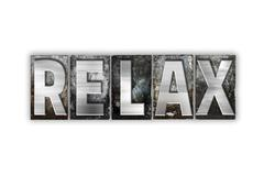 Relax Concept Isolated Metal Letterpress Type - stock illustration