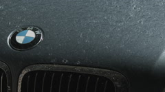 BMW in the Rain Slow Motion - stock footage