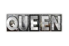 Queen Concept Isolated Metal Letterpress Type - stock illustration