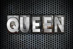 Queen Concept Metal Letterpress Type Stock Illustration