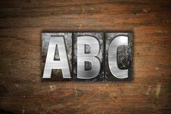 ABC  Concept Metal Letterpress Type - stock illustration