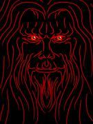 Evil wizard Stock Illustration