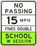 Road sign used in the US state of Arizona - school speed limit sign Stock Illustration