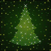Glittering Christmas tree - stock illustration