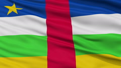 Close Up Waving National Flag of Central Africa - stock footage