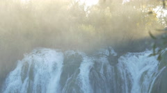 Tilt view of Kravice waterfall Stock Footage