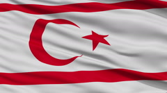 Stock Video Footage of Close Up Waving National Flag of Northern Cyprus
