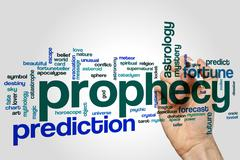 Prophecy word cloud - stock photo