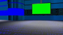 Animated chroma key virtual set all camera angles broadcasting programs - stock footage