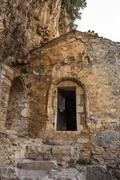 The old Filosofou monastery ruins near Dimitsana and Stemnitsa Stock Photos