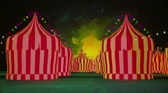 Spooky carnival amusement park night Stock Footage