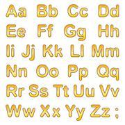 Alphabet letters on a white background - stock illustration
