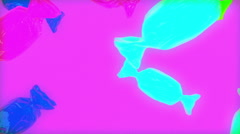 Candy animation falling Stock Footage