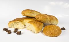 set whole wheat breads - stock photo