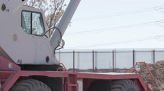 Heavy Equipment Near Border Stock Footage