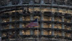 Capitol in Washington DC under construction Stock Footage