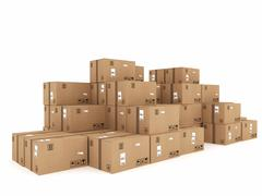 Packaged to be shipped - stock illustration