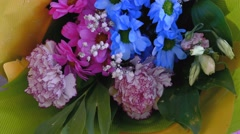 Bouquet of blue flowers close-up of 4K Arkistovideo