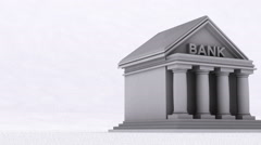 Disentigration bank destroy banking institution Stock Footage