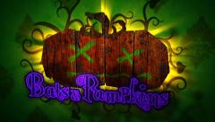 Bats & Pumpkins - Halloween Pumpkin Logo Stinger - stock after effects