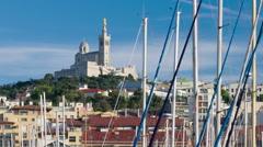 Timelapse of Marseille port - stock footage