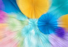 Abstract zoom blur colorful paper background - stock photo